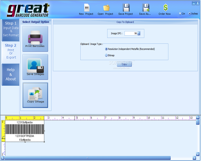 Screenshot of Great Barcode Generator, Barcode Software Images